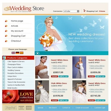 Wedding Shop OsCommerce Template