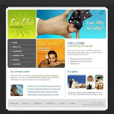 Tanning Salon Website Template