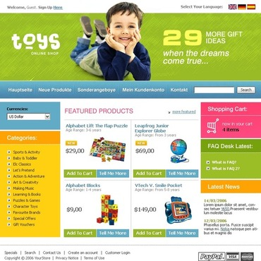 Toy Store CRE Loaded Template