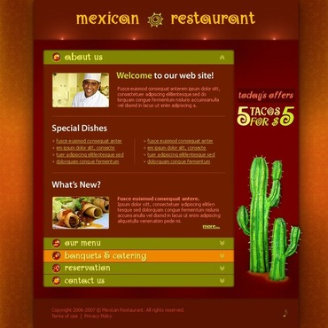 Mexican Restaurant Flash Template