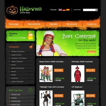 Halloween OsCommerce Template