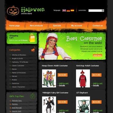 Halloween OsCommerce Template