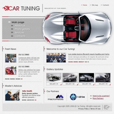 Car Tuning SWiSH Template