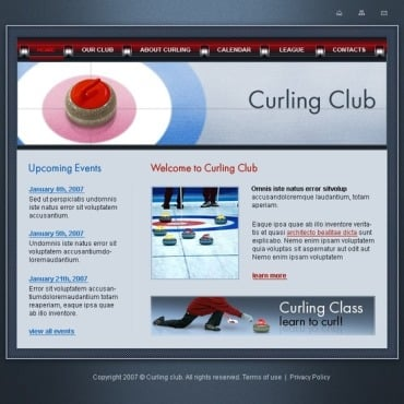 Curling Website Template