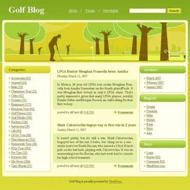 Golf WordPress Theme