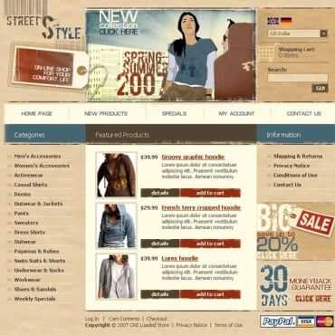 Apparel CRE Loaded Template