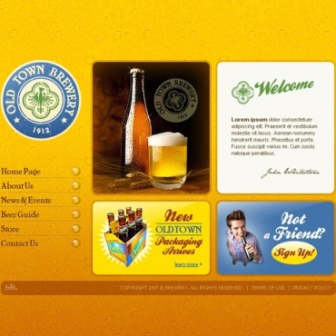 Brewery Flash Template