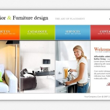 Interior & Furniture Flash Template