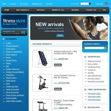 Fitness ZenCart Template