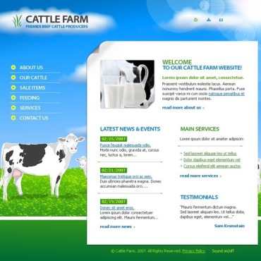 Cattle Farm Flash Template