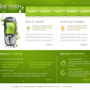 Mobile Company Website Template