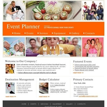 Event Planner Website Template