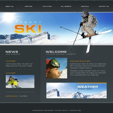 Skiing Website Template
