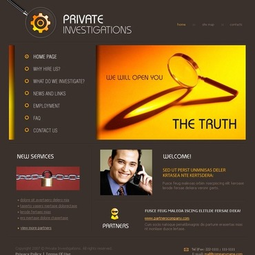 Private Investigator Flash Template