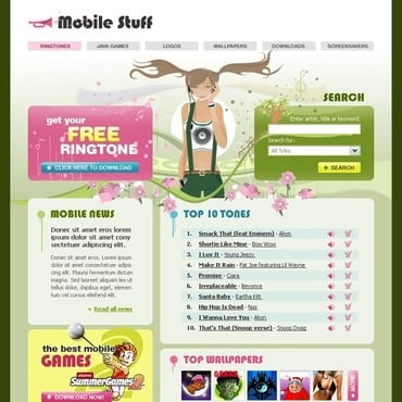 Mobile Content Website Template