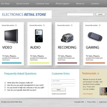 Electronics Store SWiSH Template