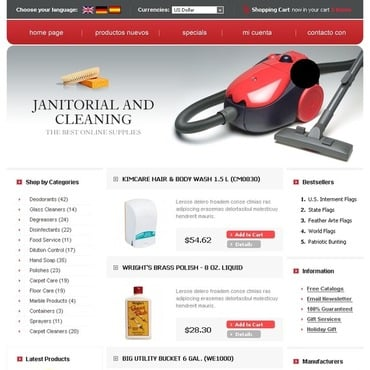 Cleaning OsCommerce Template