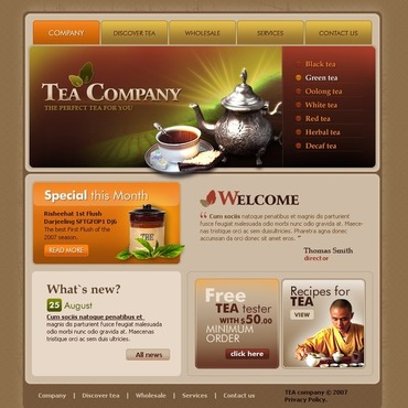 Tea Shop Website Template