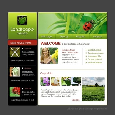 Landscape Design SWiSH Template