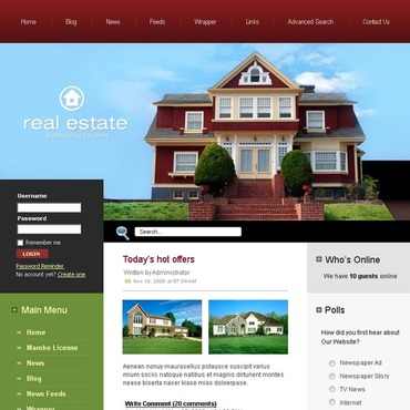 Real Estate Agency Mambo Template