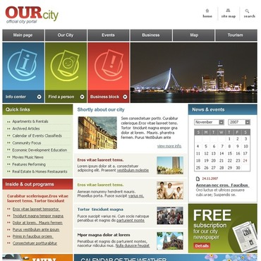 City Portal SWiSH Template