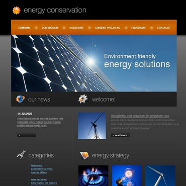Alternative Power Website Template