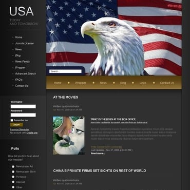 News Portal Joomla Template
