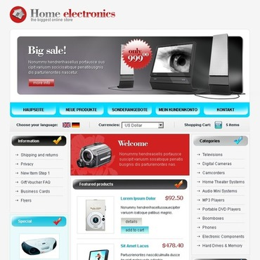 Electronics Store CRE Loaded Template