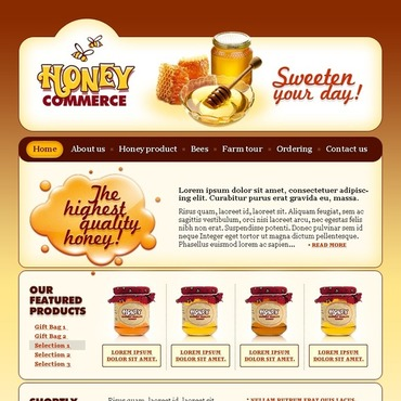 Honey Store Website Template