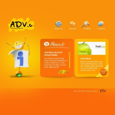 Advertising Agency Flash Template