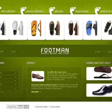 Shoe Store Website Template