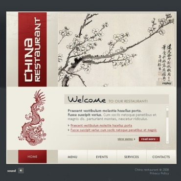 Chinese Restaurant Flash Template