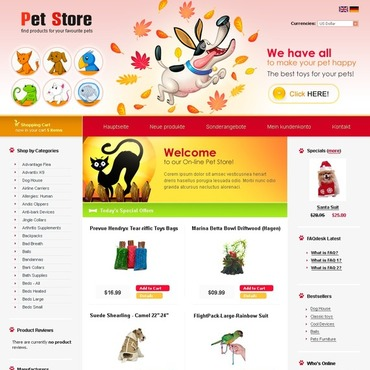 Pet Shop CRE Loaded Template