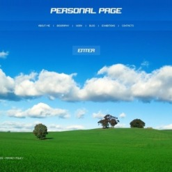 Personal Page Flash Template