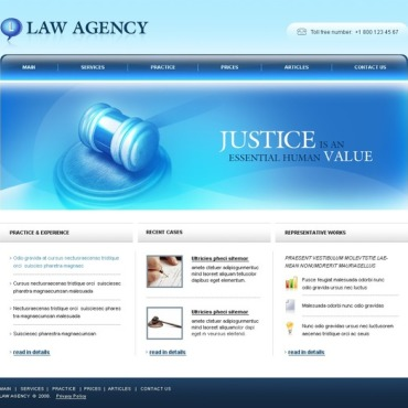 Law Firm Website Template