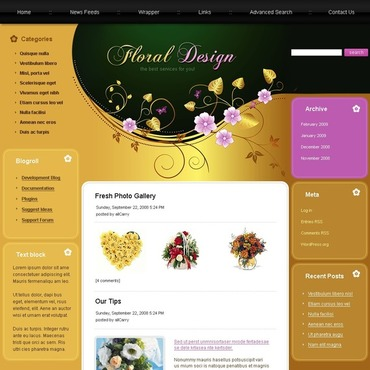 Flowers Joomla Template