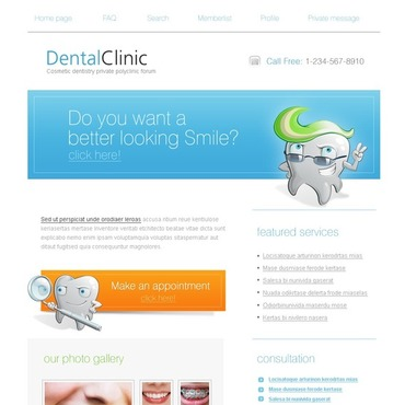 Dentistry PhpBB Template