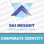 Skiing Corporate Identity Template