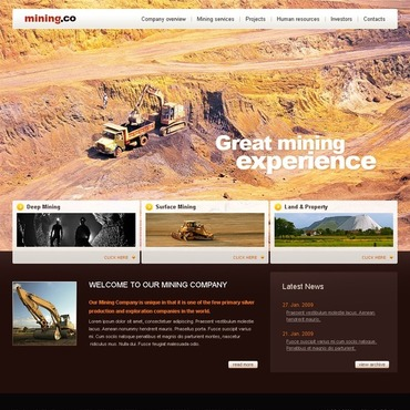 Mining Company Website Template