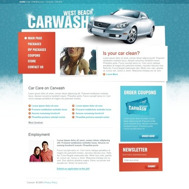 Car Wash Website Template