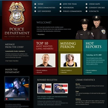 Police Website Template