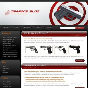 Gun Shop WordPress Theme