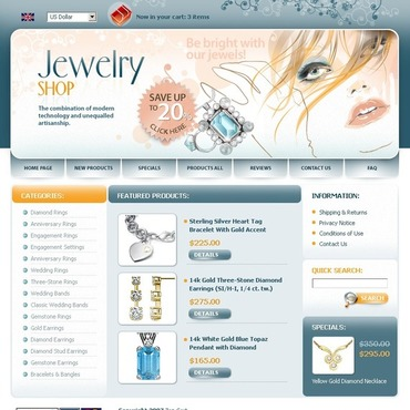 Jewelry ZenCart Template