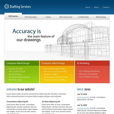 Drafting Website Template
