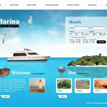 Travel Agency SWiSH Template