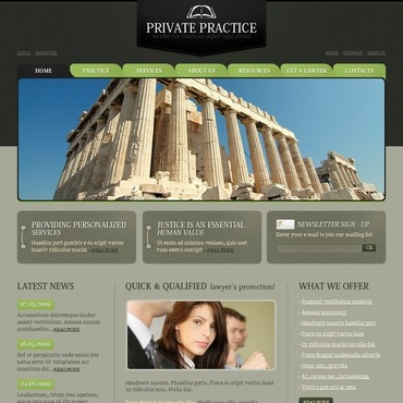 Lawyer Website Template