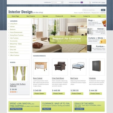 Interior Design ZenCart Template