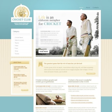 Cricket Website Template