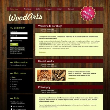 Crafts Joomla Template