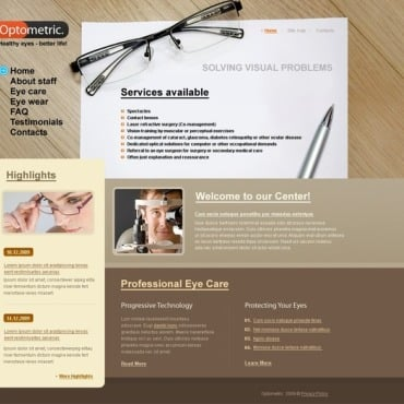 Optometrist's Website Template